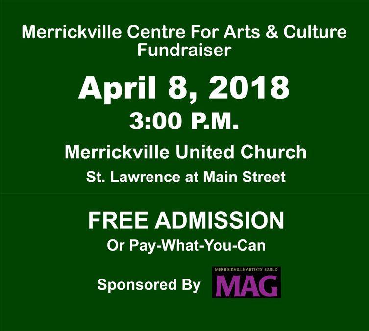 April 8 – MCAC Musical Fundraiser