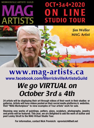 Online Studio Tour ~ Oct 3 & 4